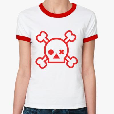 Женская футболка Ringer-T Skull  ж()