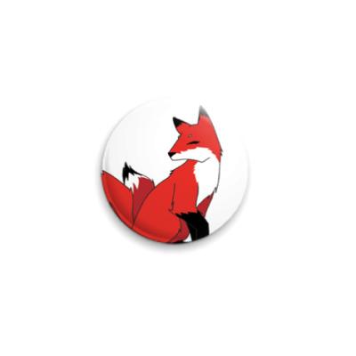 Значок 25мм  Красный лис