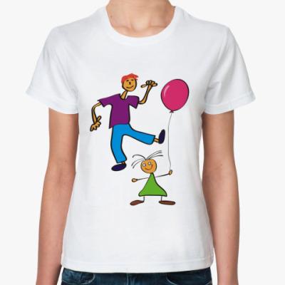 Классическая футболка Парочка - рисунок
