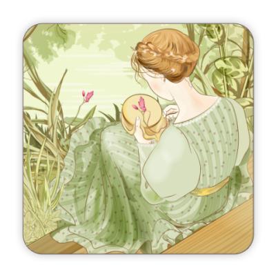 Костер (подставка под кружку) 'Вышивальщица'