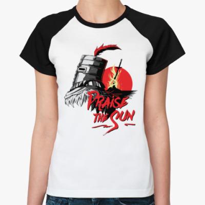 Женская футболка реглан Praise the sun