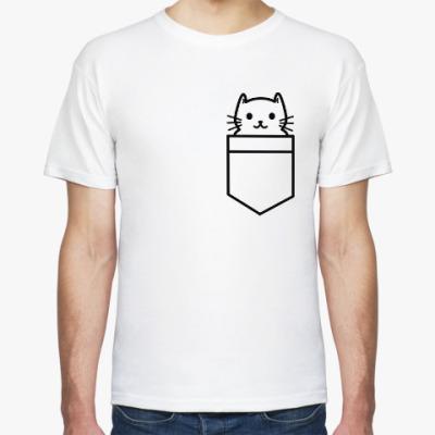 Футболка Кот в кармане
