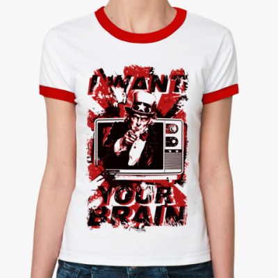 Женская футболка Ringer-T   () TV
