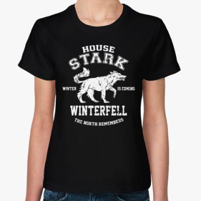 Женская футболка Игра престолов.Винтерфелл