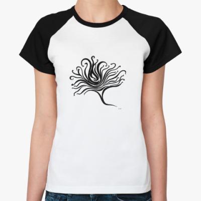 Женская футболка реглан Flower-