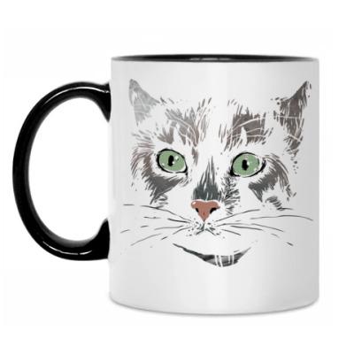 Кружка Серьезный кот