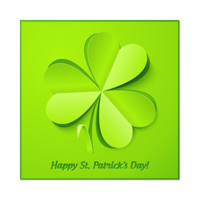 Наклейка (стикер) Happy St. Patrick's Day!