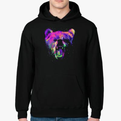Толстовка худи Абстрактный медведь