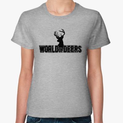 Женская футболка World of deers