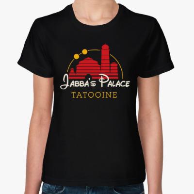 Женская футболка Дворец Джаббы