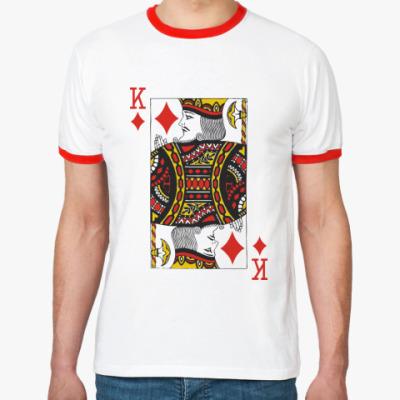 Футболка Ringer-T Король бубен