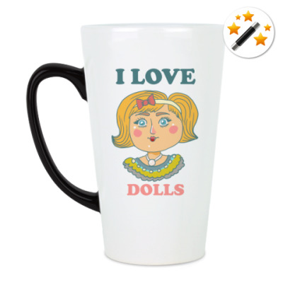 Кружка-хамелеон Люблю кукол