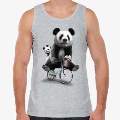 Майка Панды на велосипеде