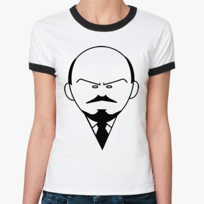 Женская футболка Ringer-T Ленин
