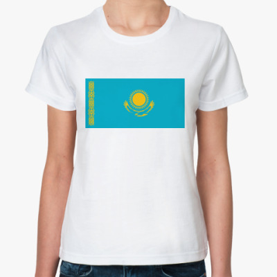 Классическая футболка Флаг Казахстан