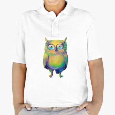 Детская рубашка поло Цветная сова
