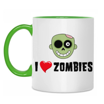 Кружка I love zombies