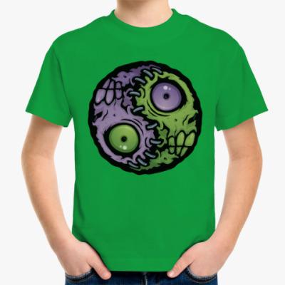 Детская футболка Зомби инь-ян