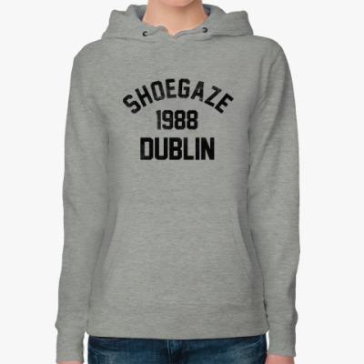 Женская толстовка худи Shoegaze Dublin 1988