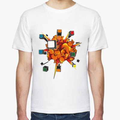 Футболка Взрыв кубика Рубика