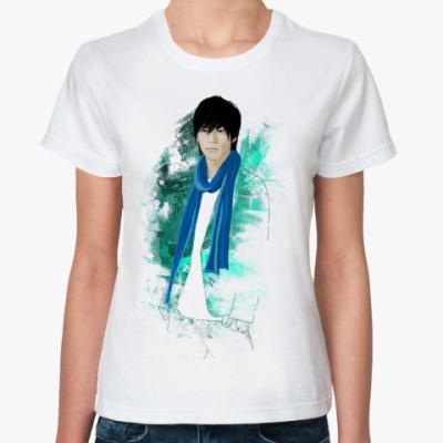 Классическая футболка   Рё в шарфе