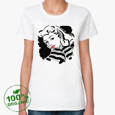 Женская футболка из органик-хлопка Retro Girl