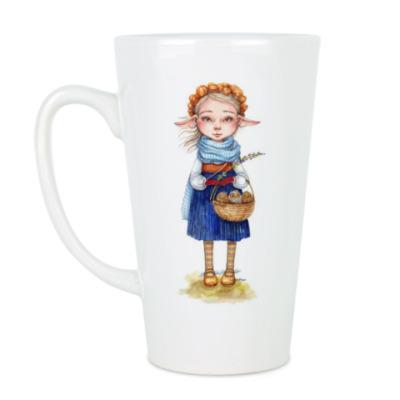 Чашка Латте Осенняя фея