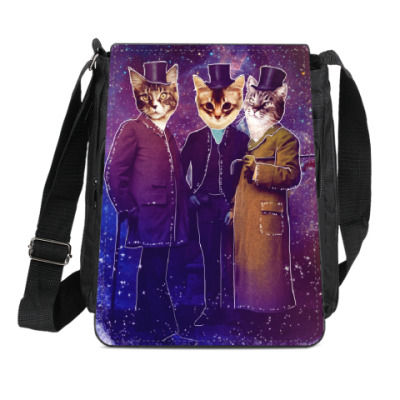 Сумка-планшет Три космических кота