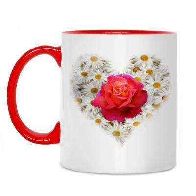 Кружка Роза в сердце