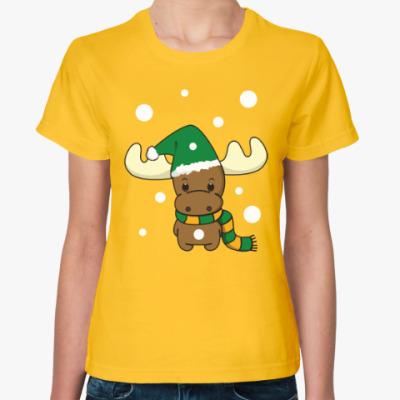 Женская футболка Маленький олень