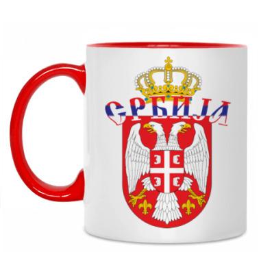 Кружка Малый герб Сербии