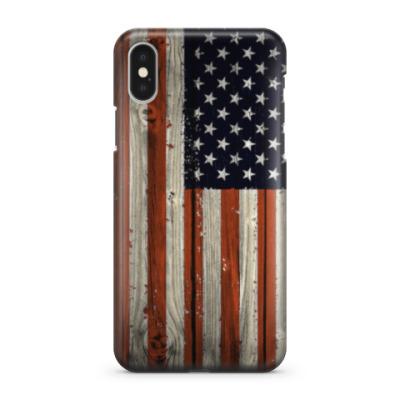 Чехол для iPhone X Флаг США