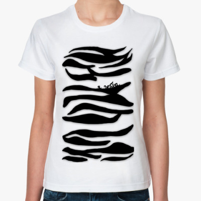 Классическая футболка я зебра