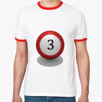 Футболка Ringer-T Бильярдный шар
