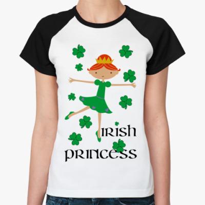 Женская футболка реглан Irish princess