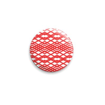 Значок 25мм  Pattern Red