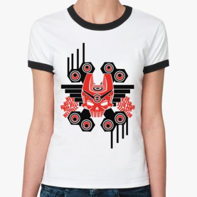 Женская футболка Ringer-T Hell  Ж(бел/чёрн)