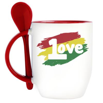Кружка с ложкой 1 Love
