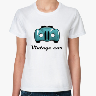 Классическая футболка Vintage car