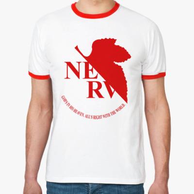 Футболка Ringer-T Neon Genesis Evangelion NERV