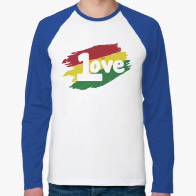 Футболка реглан с длинным рукавом 1 Love