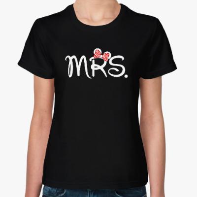 Женская футболка Mr. & Mrs.