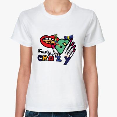 Классическая футболка Губы, Street art.