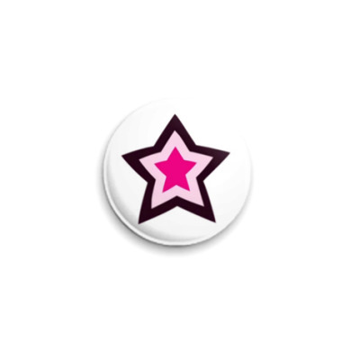 Значок 25мм  Lucky Star
