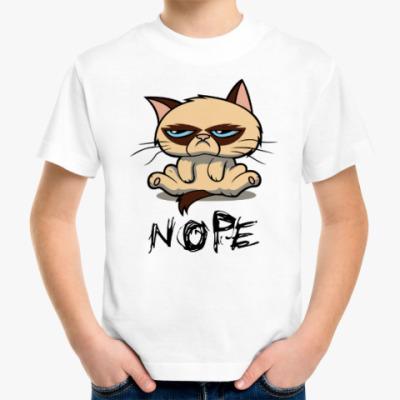 Детская футболка Недовольный кот ( Grumpy cat )