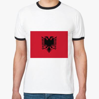 Футболка Ringer-T Флаг Албании