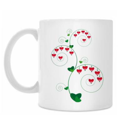 Кружка Сердечные цветы