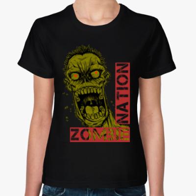 Женская футболка Нация зомби