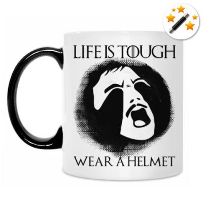 Кружка-хамелеон  Wear a helmet