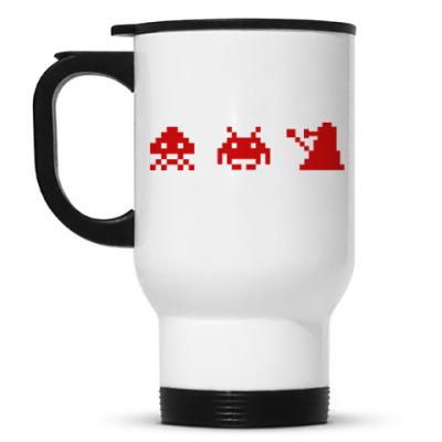Кружка-термос Dalek & Space Invaders